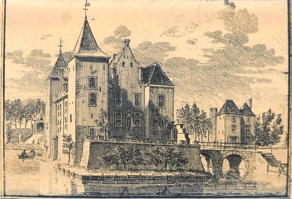 Beverweerd in Werkhoven. Tekening Jan de Beijer, gravure Hendrik Spilman (Uit: Het Verheerlykt Nederland, Isaac Tirion, 1745/1774)